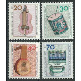 Timbres Berlin Allemagne Fédérale 1973 instruments de musique neufs** n° 423 424 425 426