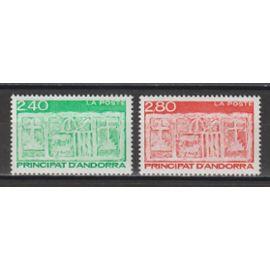 andorre français, 1993, série courante (type écu primitif des vallées), n°436 + 437, neufs.