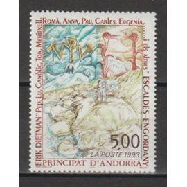 andorre français, 1993, série artistique (oeuvre de érik dietman), n°440, neuf.