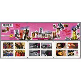 france 2010, très belle bande carnet neuve** luxe yvert 417, contre les violences faites aux femmes, 12 timbres 417 à 428, validité permanente, auto-adhésifs pour collection ou affranchissement.
