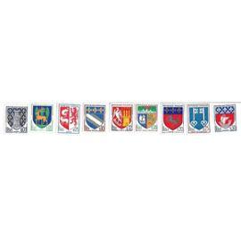 Niort / Guéret / Auch / Troyes / Agen / St Denis / St Lo / Mont de Marsan / Paris (lot de 9 timbres)