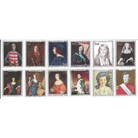 Monaco : lot de 12 timbres non oblitérés