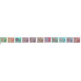 Série 11 timbres Monnaie Gauloise (0,10/0,15/0,22/0,25/0,26/0,30/0,35/0,45/0,50/0,70/0,90)