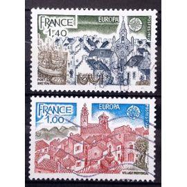 Série Europa 1977 - Très Jolis N° 1928 1929 Obl - France Année 1977 - N27091
