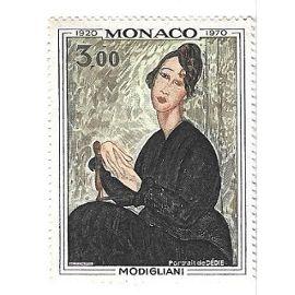 Modigliani - Portrait de Dédie - Monaco 1920/1970 (3,00)