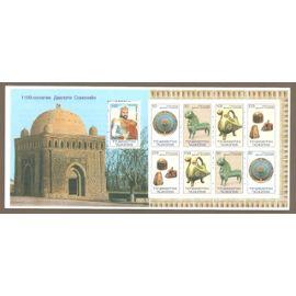 carnet pièces échecs Tadjikistan 2000- 9 TP