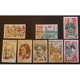 France oblitéré Y et T N° 1952 et plus lot de 8 timbres de 1977 cote 5.20