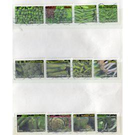série complète 2012 autoadhésifs oblitérés N°A739 à A750