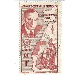 Afrique Occidentale Française - Courrier Sud 1928 St Exupéry - Poste Aérienne (8f)