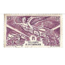 Afrique Occidentale Française :Poste Aérienne - Anniversaire de la victoire (8f)