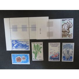 TAAF 6 timbres dont 2 PA neufs sans charnières