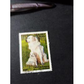 chien dog le montagne des Pyrénées timbre france tp16