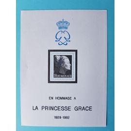 monaco - feuillet n° 24 - hommage à la princesse grace - 1983