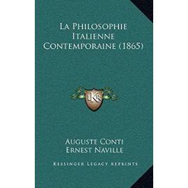 La Philosophie Italienne Contemporaine (1865) - Auguste Conti