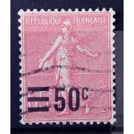 Semeuse Lignée 50c / 65c rose (Très Joli n° 224) Obl - France Année 1926 - N10989