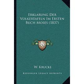 Erklarung Der Volkertafeln Im Ersten Buch Moses (1837) - Unknown