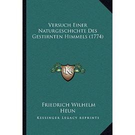 Versuch Einer Naturgeschichte Des Gestirnten Himmels (1774) - Unknown