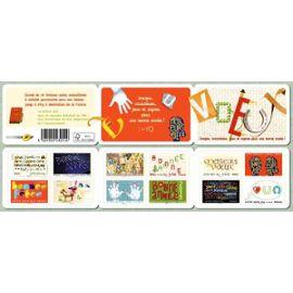 france 2012, très belle bande carnet neuve** luxe yvert bc763, 12 timbres bonne année - meilleurs voeux, auto-adhésifs, validité permamanente, pour collection ou affranchissement.