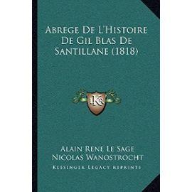 Abrege de L'Histoire de Gil Blas de Santillane (1818) - Nicolas Wanostrocht