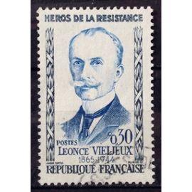 Résistants 1960 - Léonce Vieljeux 0,30 (Superbe n° 1251) Obl - France Année 1960 - N25981