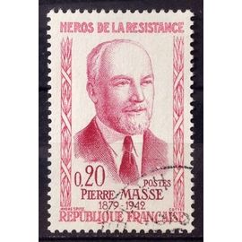 Résistants 1960 - Pierre Masse 0,20 (Superbe n° 1249) Obl - France Année 1960 - N25979