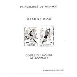 MONACO-1986-N° 35-MEXICO 86-COUPE DU MONDE DE FOOTBALL AU MEXIQUE-TIMBRES NEUFS** -GOMME INTACTE- 1 ER CHOIX