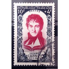 Célébrités 1950 - XVIIIème Siècle - Lazare Carnot 10f+4f Lie-de-Vin (Très Joli n° 869) Obl - Cote 14,00€ - France Année 1950 - N11025