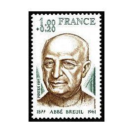 timbre Abbé Henri Breuil (emission de 1977)
