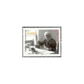 """Timbre Oblitéré Le siècle au fil du timbre - Vie quotidienne - """"Louise la repasseuse"""" 1950 La Pommeraye - 2002 Yvert et Tellier n°3523"""