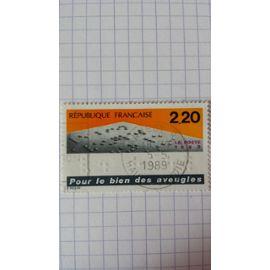 Lot n°1103 ■ timbre oblitéré france n ° 2562 ---- 2f20 orange, gris et bleu