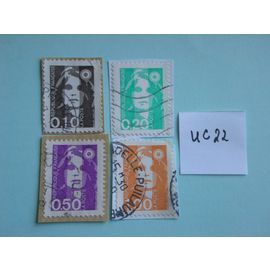 """Lot de 4 timbres """"Marianne du Bicentenaire"""""""