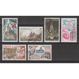 France, 1977, Instituts Catholiques De France, Annecy, Série Touristique, N°1933 + 1935 + 1938 + 1939 + 1947 + 1948, Oblitérés.