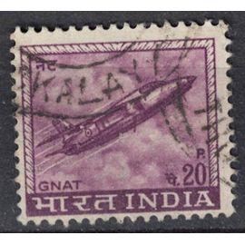 Inde 1967 Oblitéré Used GNAT Jet Fighter Avion militaire léger SU