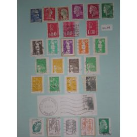 "Lot de 28 timbres ""Marianne"""