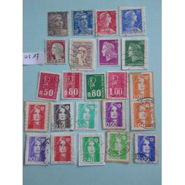 "Lot de 23 timbres ""Marianne"""