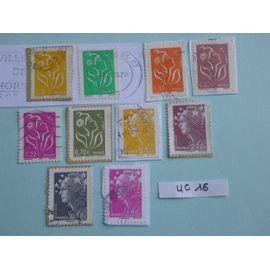 "Lot de 10 timbres ""Marianne"""