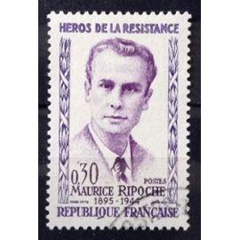 Résistants 1960 - Maurice Ripoche 0,30 (Superbe n° 1250) Obl - France Année 1960 - N25980