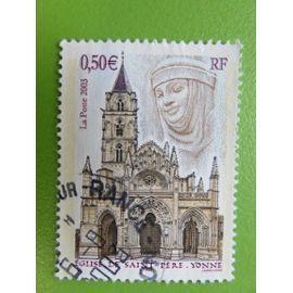 Timbre Oblitéré Eglise de Saint Père Yonne (89) 2003 - Yvert et Tellier n°3586