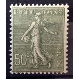 Semeuse Lignée 1924 - 50c Olive (Superbe n° 198) Neuf* - Cote 7,50€ - France Année 1924 - N11060