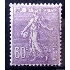 Semeuse Lignée 1924 - 60c Lilas (Superbe n° 200) Neuf* - Cote 6,90€ - France Année 1924 - N11061