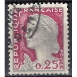 France 1960 Oblitéré Used Marianne de Decaris 0,25 F Y&T 1263 SU