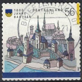 Allemagne 2002 Oblitéré Used Représentation Ville de Bautzen ses monuments et remparts SU