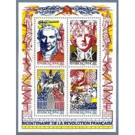 Bloc-feuillet du bicentenaire de la Révolution bf12