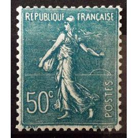 Semeuse Lignée 1937 - 50c Turquoise (Superbe n° 362) Neuf* - France Année 1937 - N11066