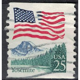 Etats Unis 1988 Oblitéré Used Flag Drapeau au dessus du Parc National de Yosemite SU