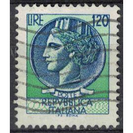 Italie 1977 Oblitéré Used Tête de Profil Pièce Monnaie de Syracuse Coin 120 Lire SU