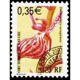 france 2002, très beau timbre neuf** luxe préoblitéré yvert 247, orchidée de savoie.