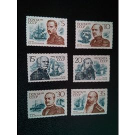 timbre RUSSIE / URSS YT 5699 a 5704 Séries: Amiraux russes. 1989 ( 080304 )