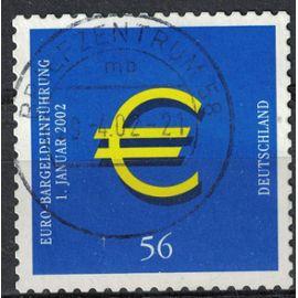 Allemagne 2002 Oblitéré Used Euro Currency Introduction de la monnaie euro SU