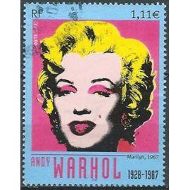 France 2003, Beau timbre Yvert 3628, Marylin Monroe Par Andy Warhol, Oblitéré, Tbe